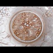 SALE PENDING Tremendous French Art Deco mauve glass Les Raisins pattern bowl signed HANOTS by