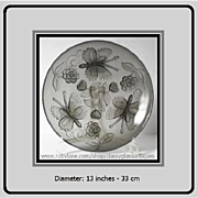 d'Avesn French Art Deco smoky grey glass bowl circa 1930s. Absolutely Stunning…