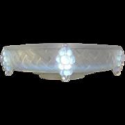 1930s French Art Deco opalescent glass bowl by Ezan
