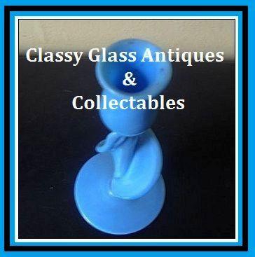 Art Nouveau Vitro porcelain Glass Study Of  A Tulip Vase / Candle Holder