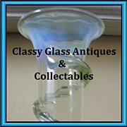 REDUCED Thomas Webb, English Victorian Uranium Vaseline Glass Vase.  AMAZING!