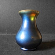 REDUCED Iridescent glass WMF myra krystal vase intact with original WMF label circa 1930's