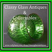 REDUCED Stunning Bohemian Czechoslovakia c1950's optical glass vase by Borske Sklo, pattern Ca