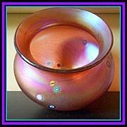 REDUCED Important, Iridescent Translucent Rose Glass Vase by J. Ditchfield, Glasform. England.