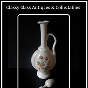 Majestic 15 inch Antique French Opaline Glass Decanter & Stopper.