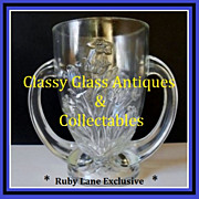 French Verlys Les Campuneles 'Bluebells' Crystal Glass Trophy Vase circa 1925 - 1930