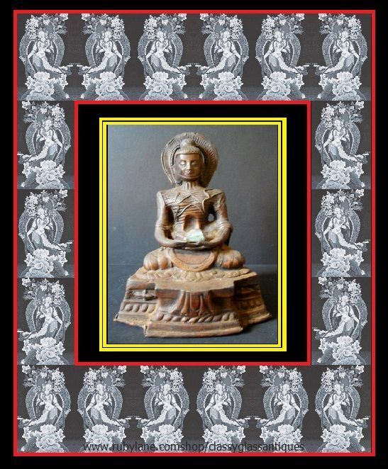 Museum Quality 19th Century Antique Vintage Oriental Buddhist Fasting Siddhartha Gautama Buddha - Copper Metal Statue Figure
