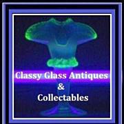 REDUCED Thomas Webb, Opalescent & Uranium  Glass Vase. England pre-1910.