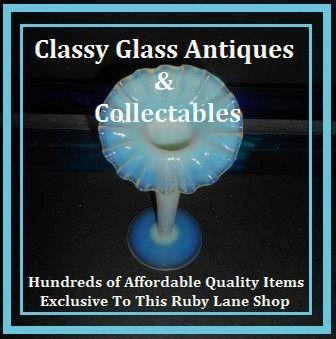 Original English Victorian Cased Crystal Opal / Opalescent Glass Vase. Stourbridge, England pre - 1900s.