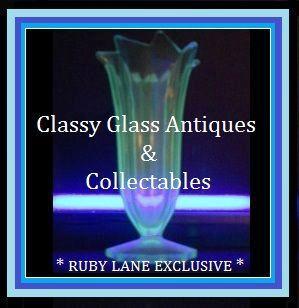 DESIRABLE Uranium Blue Glass 1930s Art Deco Vase by Libochovice, Czechoslovakia.