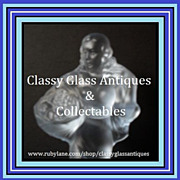 REDUCED German Art Deco Glass Lady & Bowl Center Piece by Walther & Sohne. ' Lukretia ' patter