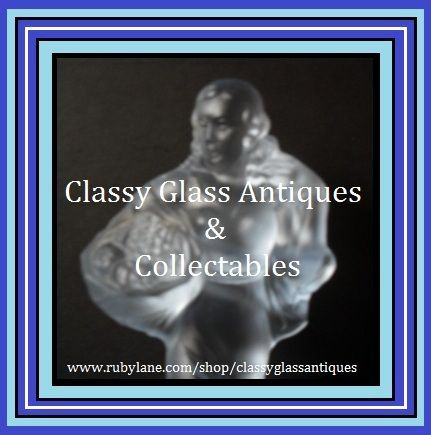 German Art Deco Glass Lady & Bowl Center Piece by Walther & Sohne. ' Lukretia ' pattern. c1935s