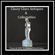 REDUCED Venus de Milo Opalescent Crystal Art Glass Figurine by Sabino