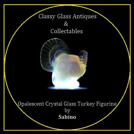 Sabino Opalescent Crystal Glass Turkey Figurine
