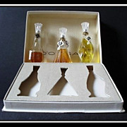 REDUCED D'ORSAY Treasure Chest presentation of 3 Full Size perfume bottles. SCARCE.