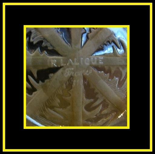 Rene Lalique Model 3104 Pissenlit Intaglio Moulded Glass Bowl c1921