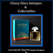 SOLD Lalique by Lalique 4.5ml Miniature with Original Contents - Complete with Box