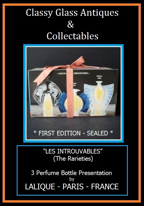 SEALED First Edition LALIQUE Les Introuvables Perfume Bottle Presentation – Sealed & Complete