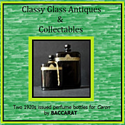 2 First Issue 1920s Hand Cut Black Crystal Perfume Bottles by Baccarat – Numbered & Unique
