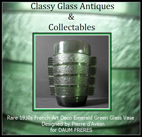 Daum Freres - Pierre d'Avesn 1930s French Art Deco Glass Vase