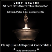 Incredible German Art Deco Illuminated Lamp & Water Feature Display by Schweig, Muller & Co. c1929