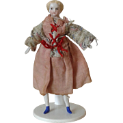 "SOLD 1860 Parian 4 1/8"" Doll  w/Trunk"