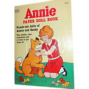 SALE 1982 Annie Paper Doll Book
