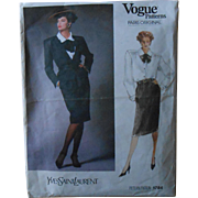 Yves Saint Laurent Vogue Paris Original Pattern