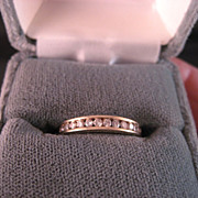 14 K yellow Gold and Diamond Channel Set Band .33 ct. total wt.