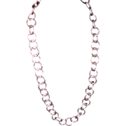 Sterling Silver Circle Link Chain Necklace