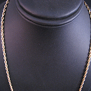 14 K Yellow Gold Diamond Cut Solid Rope 18 inch Chain Necklace