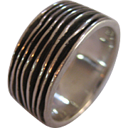 Sterling Silver Wide Custom Made Band