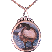 Carved Canadian Goose Pendant and Chain