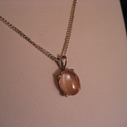 Vintage Oregon Sunstone Sterling Silver Necklace