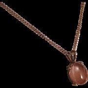 Vintage Oregon Sunstone Sterling Silver Necklace