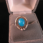 SALE Vintage Native American Turquoise Ring