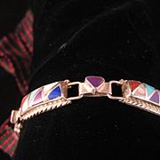SALE Vintage Zuni Inlay Bracelet