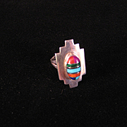 SALE Vintage Zuni Pueblo Ring  Signed
