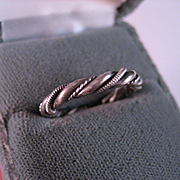Sterling Silver Navajo Twist Band Size 7