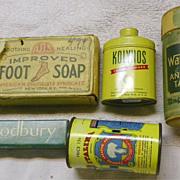 SALE SALE: HBA Drugstore Items - groups- Soap-Powder-Dentals-Laxative - Vintage