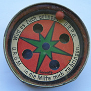 REDUCED $ALE: Hand Dexterity Puzzle Toy - Star Design - German - 2 sided - Vintage