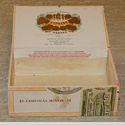 REDUCED SALE: H.Upmann Cigar Box - wood - 1912 Cuba Label - Vintage!
