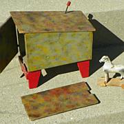 REDUCED $ALE: Folk Art Toy - Horse & Wagon/Truck - Vintage Americana