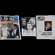 John Kennedy Magazines - LOOK, LIFE, 4 DARK DAYS IN hISTORY - 1963