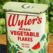 REDUCED SALE: Wyler's mixed Vegetable Flakes 3/4 oz. tin - Vintage Advertising - Chicago