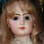 """SALE Antique 24"""" Porcelain Closed Mouth Depose Tete Jumeau"""