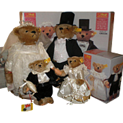 REDUCED Steiff Wedding Party  of Four Mint in Original Boxes