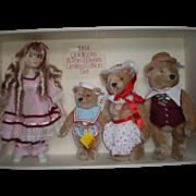REDUCED 1984 Goldilocks & Three Bears by Steiff/Gibson