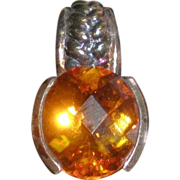 SALE Fire Orange Citrine Faceted Gemstone