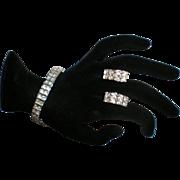 Rhinestone Bracelet and Earring Set.
